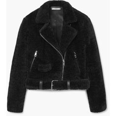 MANGO Faux Fur Jacket ($100) ❤ liked on Polyvore featuring outerwear, jackets, faux fur lined jacket, fleece-lined jackets, lapel jacket, fake fur jacket and pocket jacket
