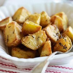 Heston Blumenthal's roast potatoes with garlic and rosemary | Easy side dishes | Red Online