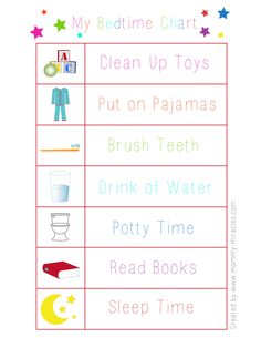 Bedtime Chart for toddlers. Give them responsibility to get them into bed easier. Bedtime Chart for toddlers. Give them responsibility to get them into bed easier. Toddler Bedtime, Toddler Fun, Toddler Activities, Toddler Learning, Toddler Rules, Learning Activities, Montessori, Bedtime Chart, Toddler Chart