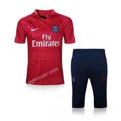 2016-17 PSG Red Short-sleeved Tracksuit