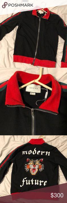Gucci track jacket Gucci track jacket sz medium fits a little small worn a few times still good condition. Dry cleaned only    #bape # true religion # embellish # bathing ape #robin jeans #bape # true religion # embellish # bathing ape # ferragamo # Gucci # ax # lv # goyard # Jordan # vlone # supreme #vlonep Gucci Jackets & Coats Lightweight & Shirt Jackets