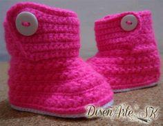 Quieres unos escarpines diferentes para tu bebé? Te ofrecemos estas hermosas #Boticas #tejidas #crochet #ganchillo