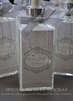 SABONETE LIQUIDO FRASCO QUARTIER - BODAS DE PRATA by Gifts for a special Occasion