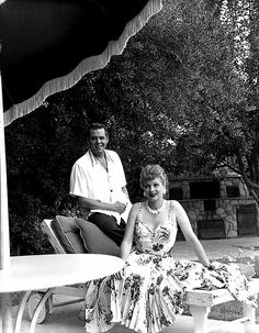 Lucille Ball With Her Husband Gary Morton And Her