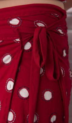 dot wrap skirt