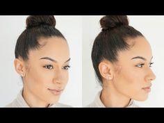High Bun For Short Transitioning Hair