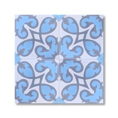 Pack of 12 Agadir Sky Blue Handmade Cement/ Granite Moroccan Tile 8-inch x 8-inch Floor/ Wall Tile (Morocco) - Overstock™ Shopping - Great Deals on Accent Pieces