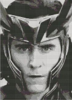 Loki (from Thor-Ragnarok) Cross Stitch Pattern