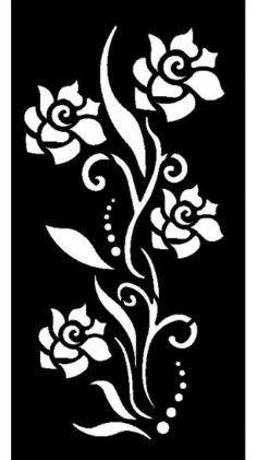 designs for cnc router laser plasma Rosa Stencil, Bird Stencil, Stencil Painting, Fabric Painting, Stencil Patterns, Stencil Designs, Flower Pattern Design, Pattern Art, Jaali Design
