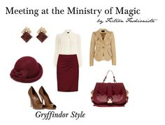Meeting at the Ministry - Gryffindor by eva-gabrielle-thompson on Polyvore featuring polyvore, fashion, style, Dorothy Perkins, Vivienne Westwood Anglomania, Gucci, Mischa Barton Handbags, Gaia, Retrò and clothing