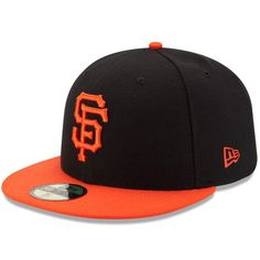 San Francisco Giants New Era Authentic Collection On-Field 59FIFTY Fitted Hat - Black/Orange