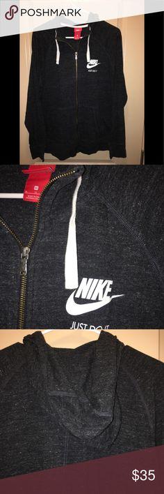 Nike women's charcoal grey Hoodie XL nwot Nike Lt.Weight charcoal grey hoodie nwot XL🚨please no trades🚨 Nike Tops Sweatshirts & Hoodies