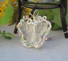 Butterfly Gardens IV Handmade Wirework Pendant | JewelryByLis - Jewelry on ArtFire