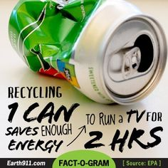 Share the Knowledge--learn more about Aluminum Can & other recycling from Earth911.  Great resource.