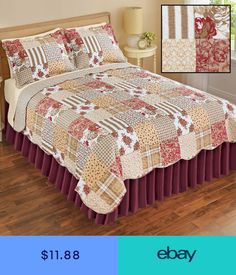 Frank Kantha Reversible Bed Sheet Quilt Block Printed Bedding Cover Queen Size Blanket Beautiful And Charming Bedding