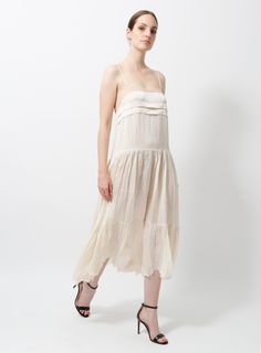 Chloé by Phoebe Philo Slip Dress Silk Slip, Satin Slip, Dress Skirt, Lace Dress, Strapless Dress, Pump Sneakers, Phoebe Philo, Dress Outfits, Dresses