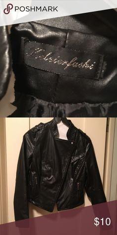 Black faux leather jacket Comfortable short black faux leather jacket Jackets & Coats