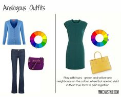 How to use the colour wheel to match outfits, analogous outfits, pink chai, mom style