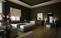 This was posted under Feng Shui, but I would say this room has bad Feng Shui, an example of good Feng Shui would be to place the bed on a solid wall instead. Feng Shui Master, Feng Shui Bedroom, Feng Shui Principles, Best Bedroom Colors, Room Of One's Own, My Dream Home, Dream Home Design, Fung Shui Home, Zen Home Decor