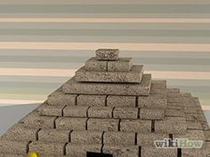 How to Build a Pyramid for School. Do you have an assignment to make a model of an Egyptian pyramid? It's a fun school project that can be approached in a variety of ways. Though there are lots of methods out there, you can easily make a. Pyramid Model, 3d Pyramid, Step Pyramid, Egyptian Pyramid, Ancient Egypt Pyramids, Pyramids Of Giza, Pyramid School Project, Diorama Kids, Summer Camp Activities