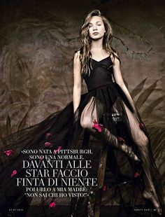 Maddie Ziegler para Vanity Fair Italia agosto 2015