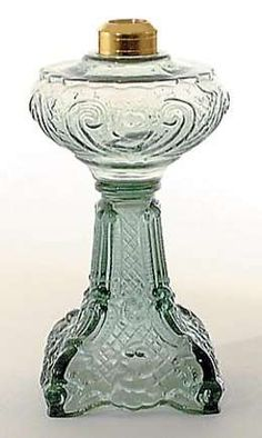 Miniature Princess Feather Pattern, Kerosene Lamp | Antique Lamp Supply