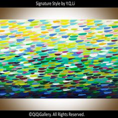 Abstract Painting wall art Original Art Impasto by QiQiGallery