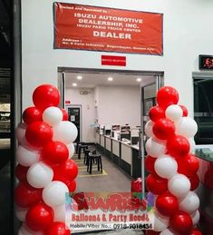Inauguration of Isuzu Pasig Visit their new office located at E. Rodriguez Jr. Ave. Cor Calle Industria, Brgy. Bagumbayan, Quezon City (near Eastwood Libis) #balloondecorsPasig #balloonsPasig #balloonscarshowroom #shairishballoons Balloon Pillars, Quezon City, Party Needs, Balloon Decorations, Jr, Irish, Balloons, Store, Globes
