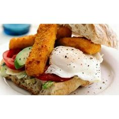 If you think you know fish finger sandwich'es, think again. Our recipe for the ultimate fish finger sandwich will blow your mind. Sandwich Recipes, Fish Recipes, Seafood Recipes, Cooking Recipes, Finger Sandwiches, Delicious Sandwiches, Fish Finger, Finger Foods, Cheat Meal