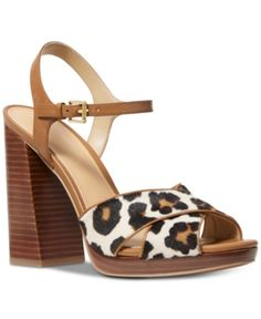 592ba5b39bab Michael Michael Kors Alexia Platform Sandals - Brown 5.5M Brown Sandals