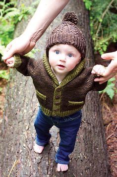 http://www.ravelry.com/patterns/library/gramps    6+mo baby sweater, for the fall?