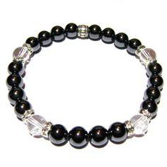 Be Genuine - Crystal Quartz and Hematite Positive Energy Bracelet | Edgy Soul