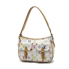 Louis Vuitton Lodge PM Monogram Multicolor Shoulder bags White Canvas M40053