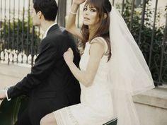 Bridal bangs, a Brigitte Bardot bridal look
