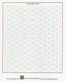 Printable Tumbling Block Quilt Graph Paper quilt graph papers