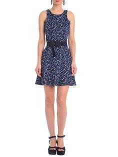 Vestido Campo De Lavanda - Maria Filó - Azul - Shop2gether