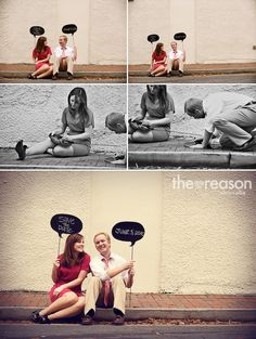 Speech Bubbles - would be cool for save the dates - or for guests to take photos for the couple at the wedding
