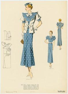 Biggest Women S Fashion Brands Vintage Dress Patterns, Vintage Dresses, Vintage Outfits, Vintage Sewing, 1930s Fashion, Vintage Fashion, Parisian Fashion, Women's Fashion, 20th Century Fashion