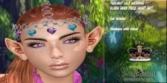 Merchant: Whymsical Marketplace Prize Name: Twilight Lily Wedding Elven Circlet Lily Wedding, Circlet, Twilight, Carnival, Face, Painting, Carnavals, Painting Art, Carnivals