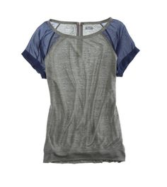 Aerie Chiffon Sleeve T-Shirt