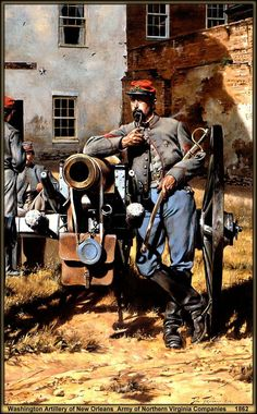 Washington Artillery of New Orleans, Army of Northern Virginia Companies 1862 by artist Don Troiani