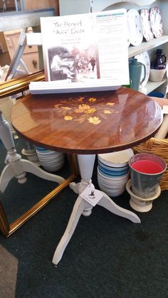 Round occasional table with pretty legs in misty grey hues Drafting Desk, Old And New, Legs, The Originals, Grey, Rose, Table, Vintage, Home Decor
