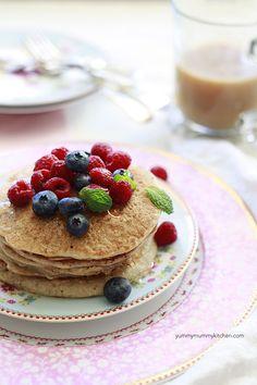 Protein Pancakes by yummymummykitchen #Pancakes #Protein #Healthy #Gluten_Free