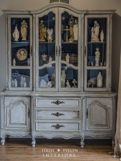 gorgeous hutch painted with Annie Sloan chalk paint