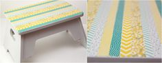Smashed Peas and Carrots: TUTORIAL: Washi Tape Stool Makeover