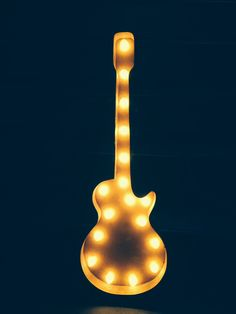 Icons Guitar Marquee Sign Wall Decor