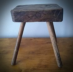 Primitive milking stool Milking Stool, Primitive Antiques, Furniture, Home Decor, Decoration Home, Room Decor, Home Furnishings, Home Interior Design, Home Decoration