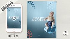 Under the Sea Baby Announcement Under The Sea, Announcement, Invitations, Studio, Youtube, Baby, Newborn Babies, Infant, Baby Baby