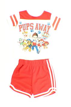 Disney Paw Patrol Toddler Boy Shirt Short Play Set Out Fit.how dare you I love this show not only for kids and boys! White Style, Red And White, Toddler Boys, Kids, Boys Shirts, Party Stuff, Paw Patrol, Birthday Shirts, Shirt Ideas