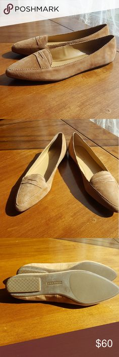 """Talbots tan suede loafers NWT """"Light Acorn"""" classic suede loafers with beautiful detail accents. Rubber soles. Talbots Shoes Flats & Loafers"""